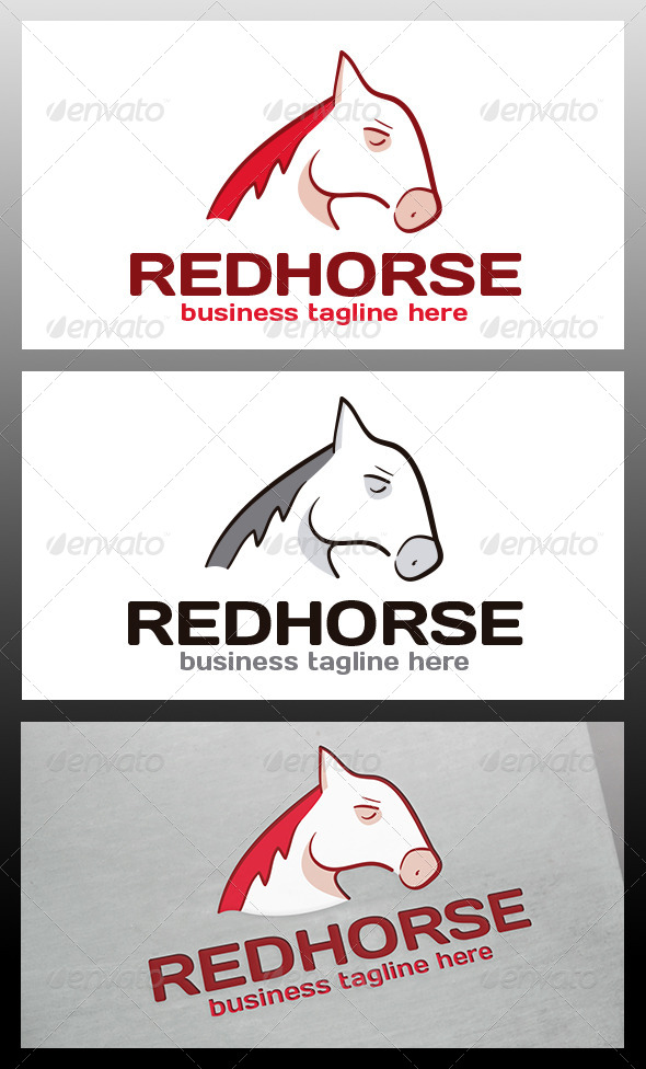 Red Horse Logo Template - Animals Logo Templates