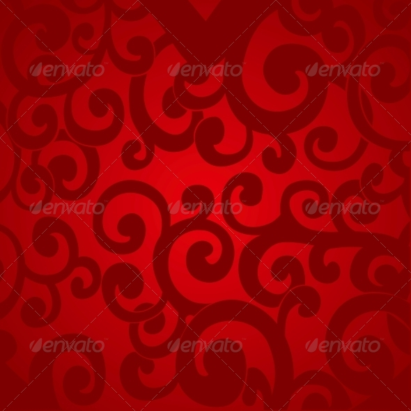 Delicate Red Abstract Background - Valentines Seasons/Holidays