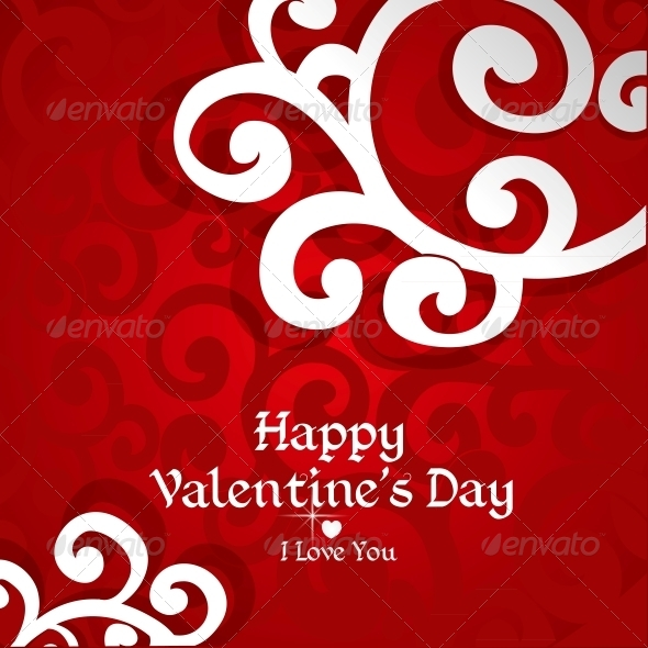 Abstract Valentine Card - Valentines Seasons/Holidays