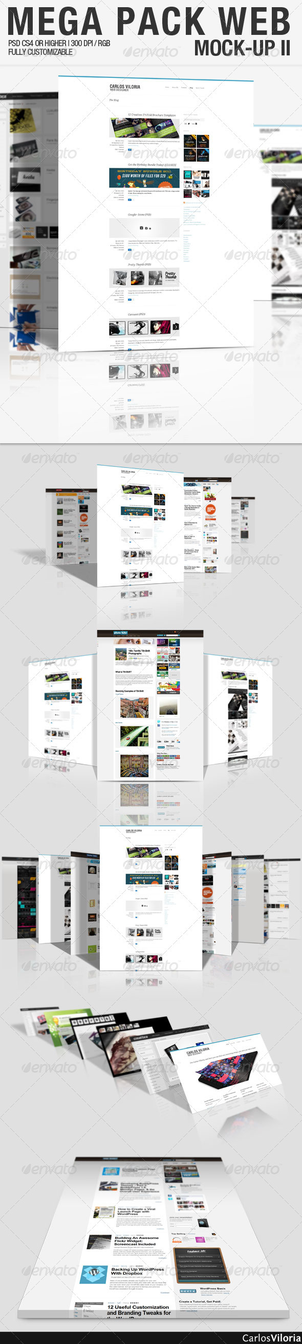 Mega Pack WEB Mock-Up 2  - Website Displays