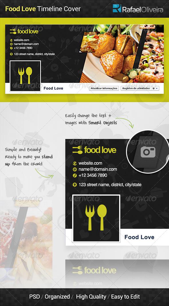 Food Love Facebook Timeline Cover - Facebook Timeline Covers Social Media