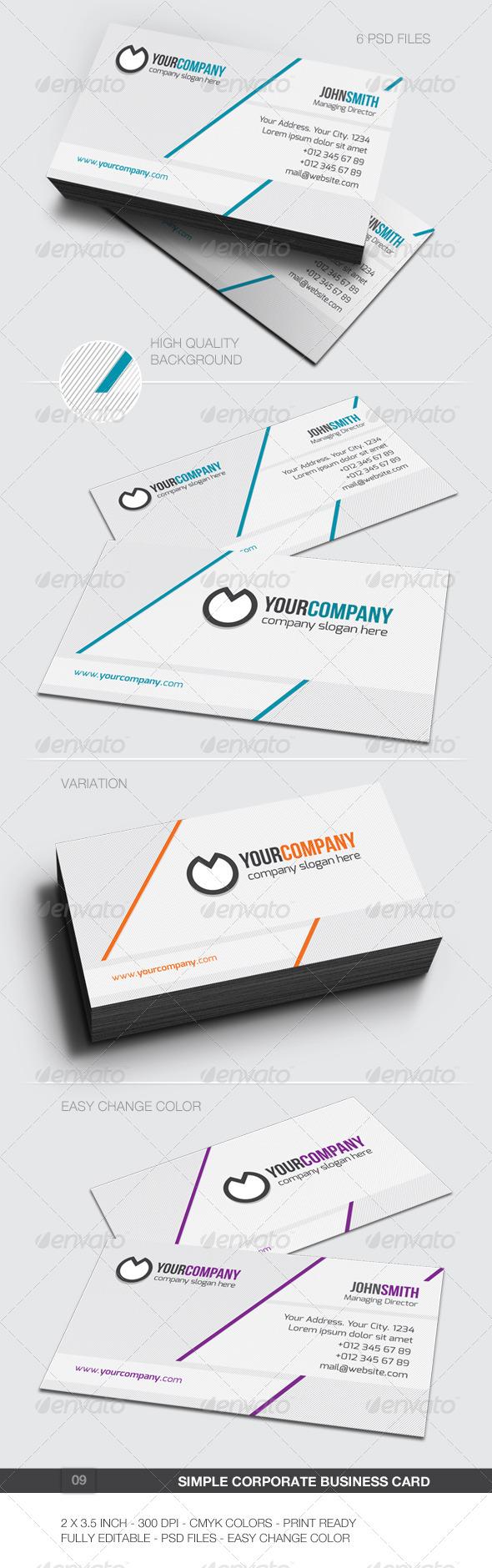 Simple Corporate Business Card - 09 - Corporate Business Cards