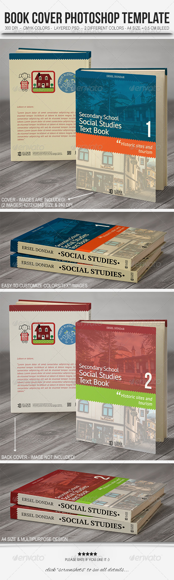 Textbook Cover Template - Miscellaneous Print Templates