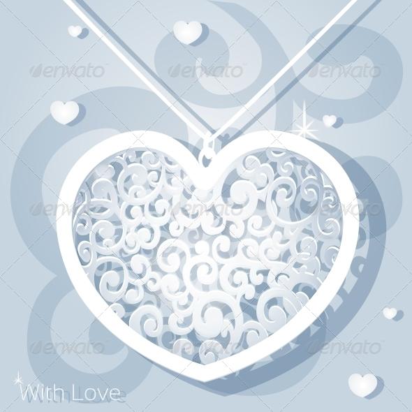 Openwork Heart Applique Paper - Valentines Seasons/Holidays