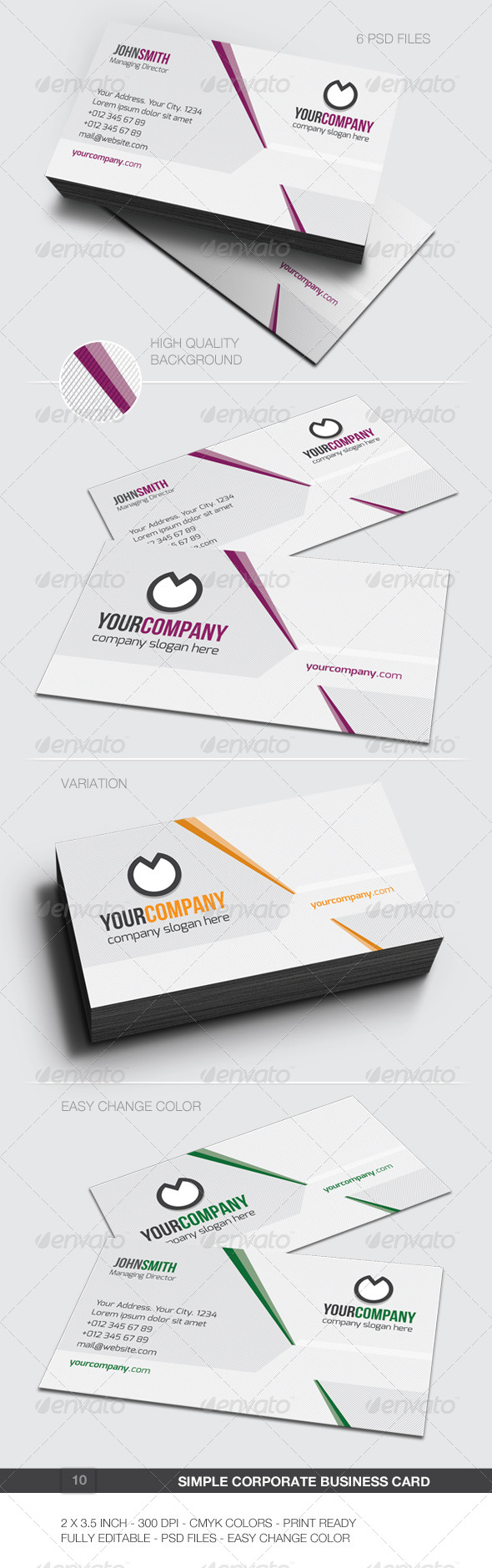 Simple Corporate Business Card - 10 - Corporate Business Cards