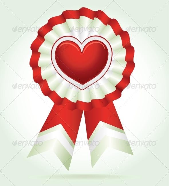 Vector Heart Red Award - Valentines Seasons/Holidays