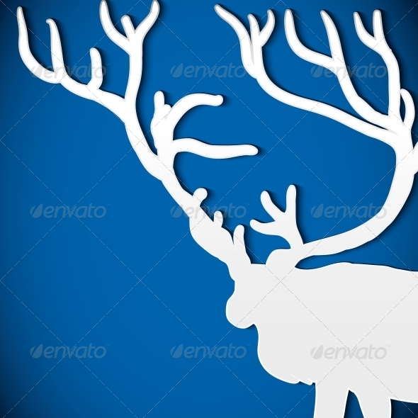 Christmas Background with Deer - Patterns Decorative