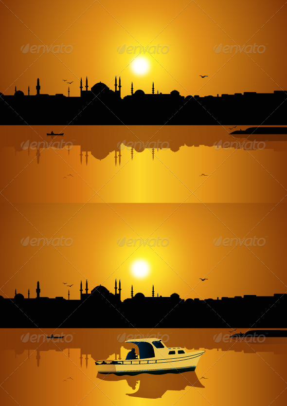 Istanbul and Sunset - Landscapes Nature