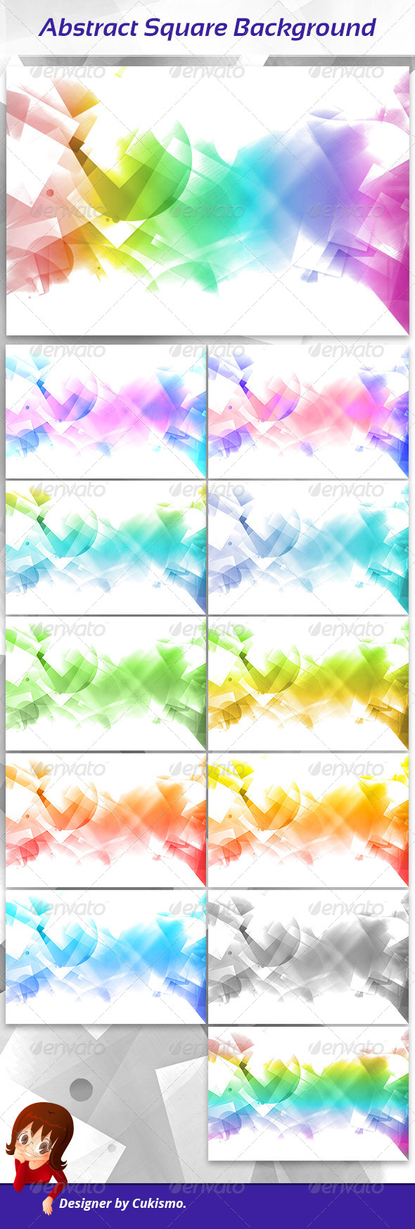 Abstract Square Background - Abstract Backgrounds