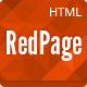 Red Page: Creative Responsive One Page Template - ThemeForest Item for Sale
