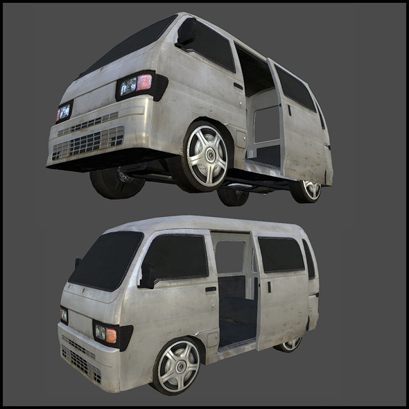 MIni Van - 3DOcean Item for Sale