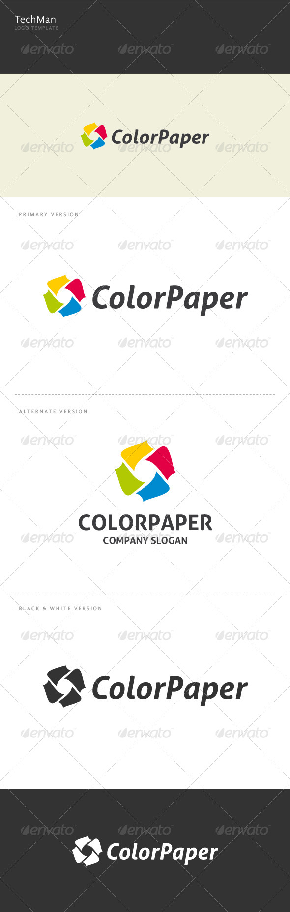 Color Paper - Abstract Logo Templates