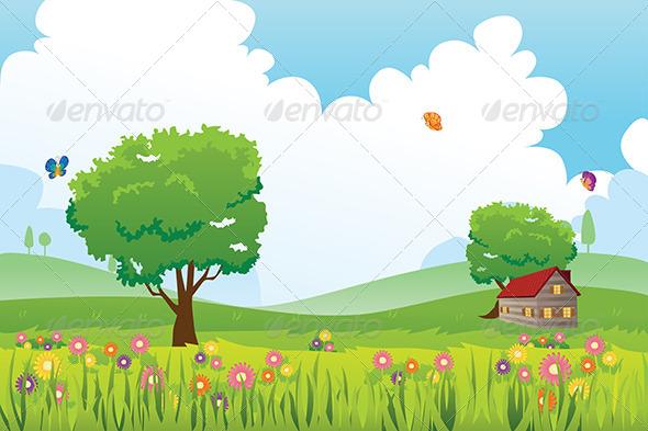 Spring Season Nature Landscape - Nature Conceptual
