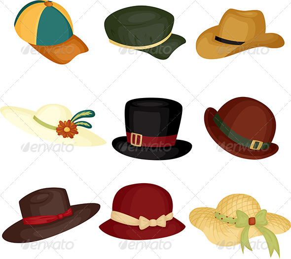 Hats - Objects Vectors