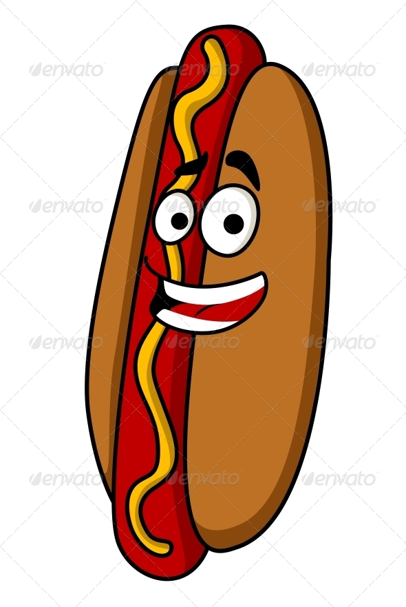 Appetizing Hot Dog with Mustard - Food Objects