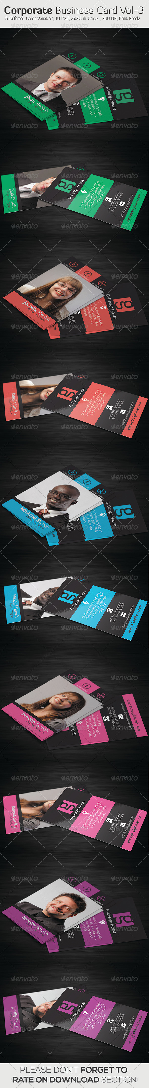 Corporate Business Card Vol- 03 - Business Cards Print Templates