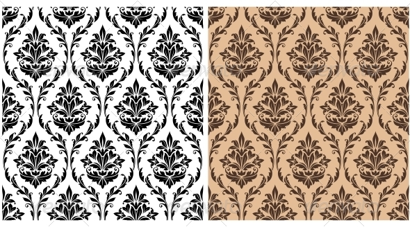 Seamless Damask Pattern - Patterns Decorative