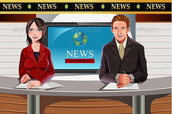 TV News Anchors - People Characters