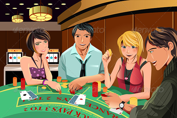 People Gambling in Casino - People Characters