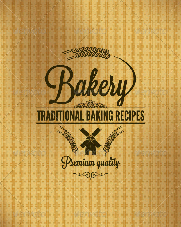 Bakery Vintage Label Background - Food Objects