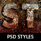 Grungy Photoshop Layer Styles - GraphicRiver Item for Sale