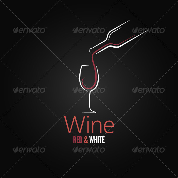 Wine Concept Ornate Design - Food Objects