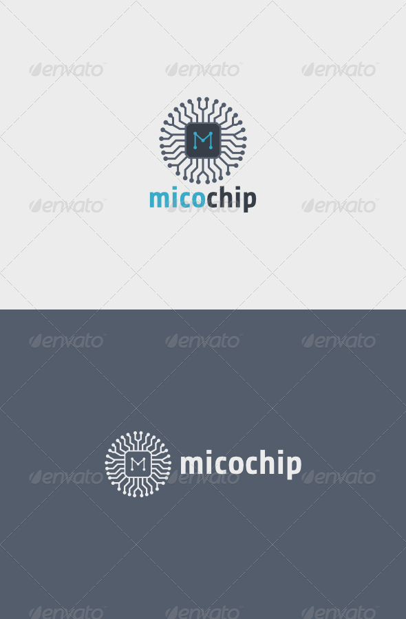 Mico Chip Logo  - Objects Logo Templates