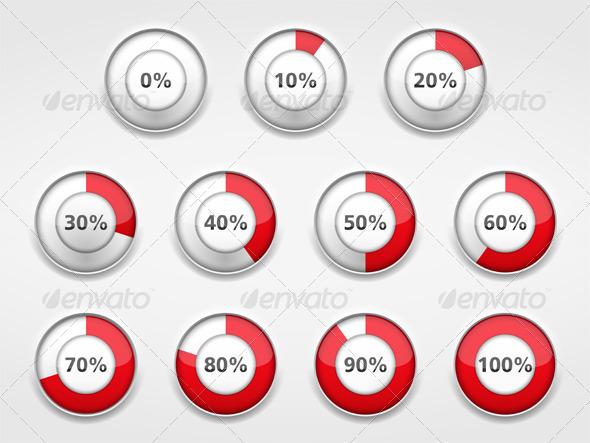 Progress Indicators - Web Elements Vectors