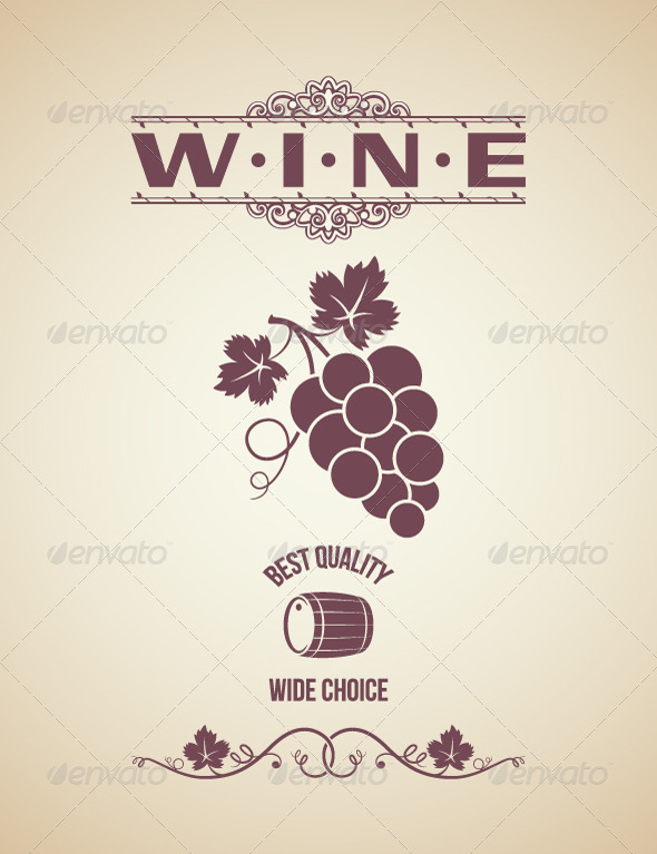 Wine Vintage Label Design - Food Objects