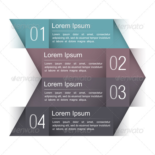 Design Template with Four Elements - Web Elements Vectors
