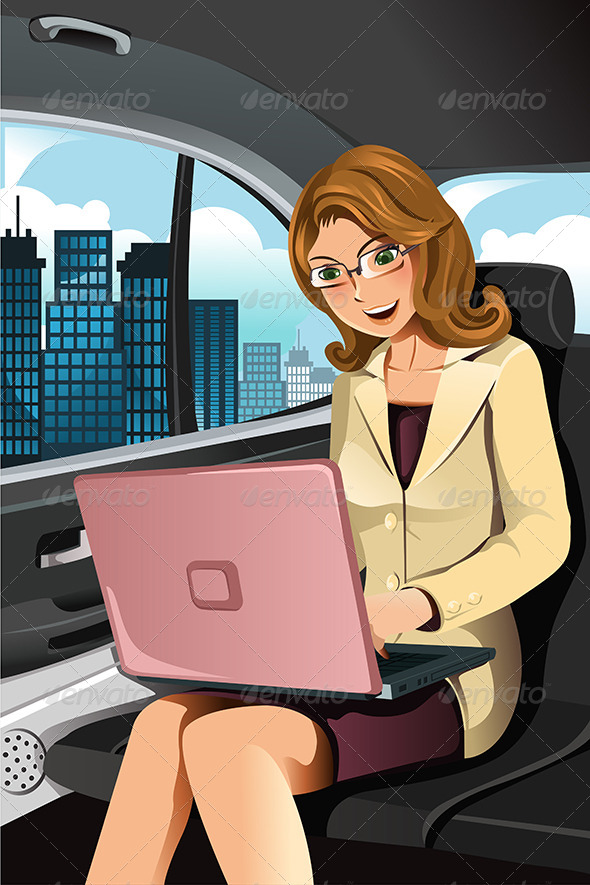 Working Businesswoman - Business Conceptual