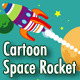 Cartoon Space Rocket - GraphicRiver Item for Sale
