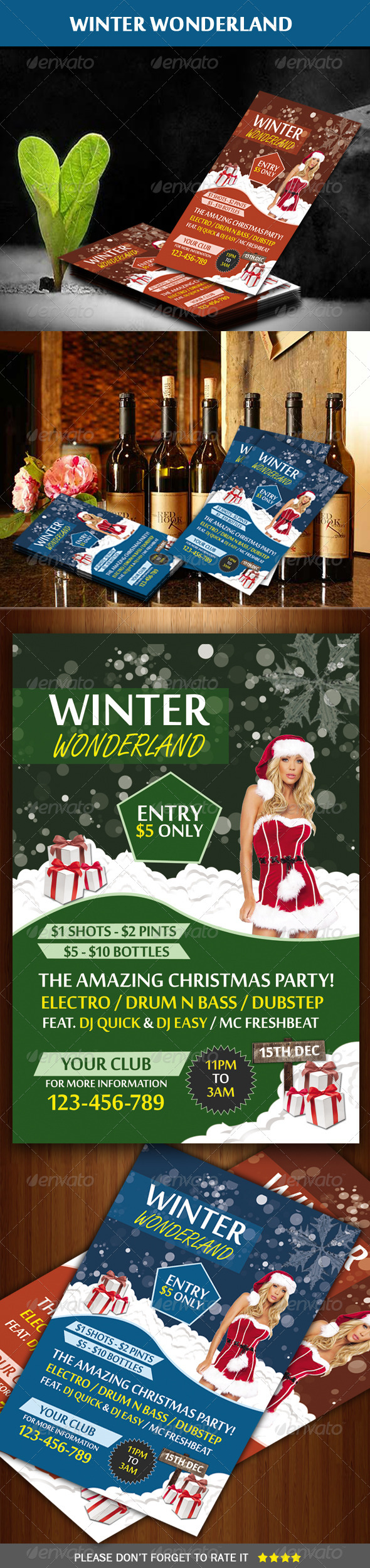 Winter Wonderland Party Flyer - Clubs & Parties Events