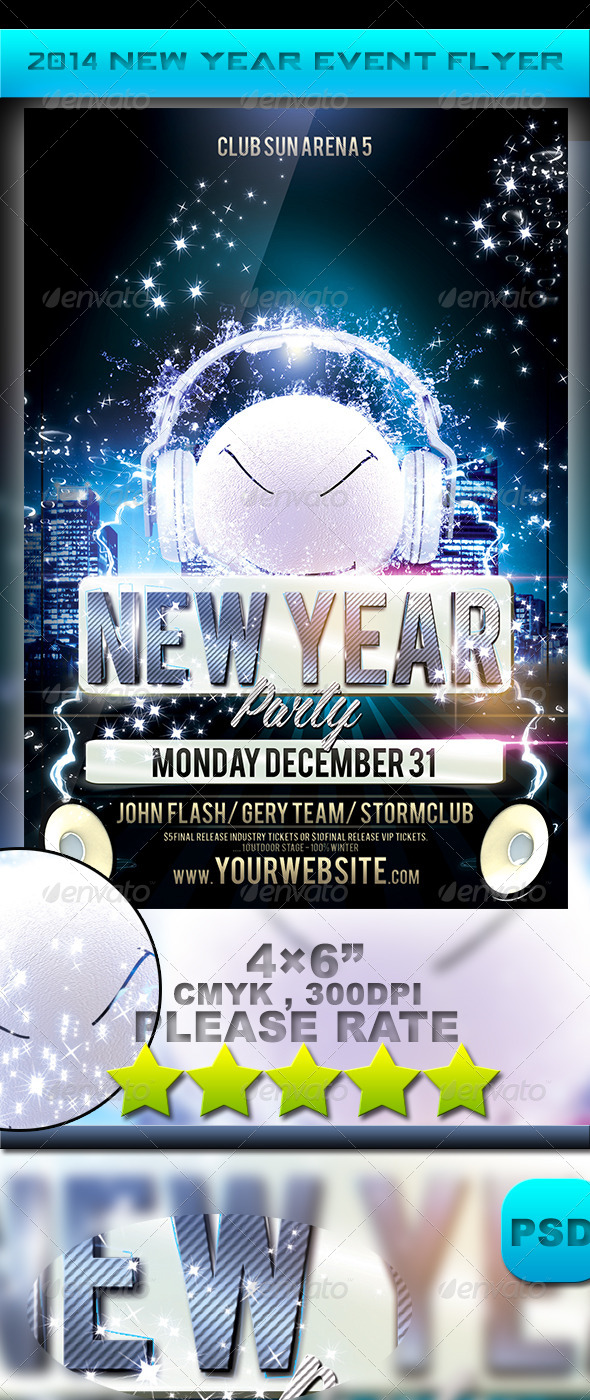 2014 New Year Event Flyer - Events Flyers