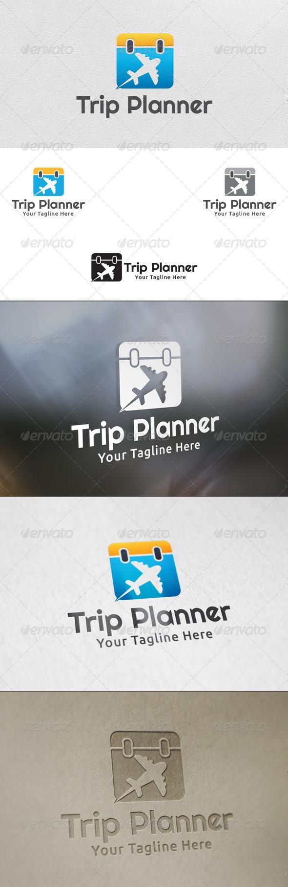Trip Planner - Logo Template - Symbols Logo Templates