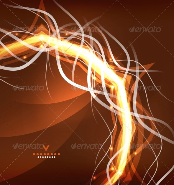 Orange Lightning Abstract Background - Computers Technology