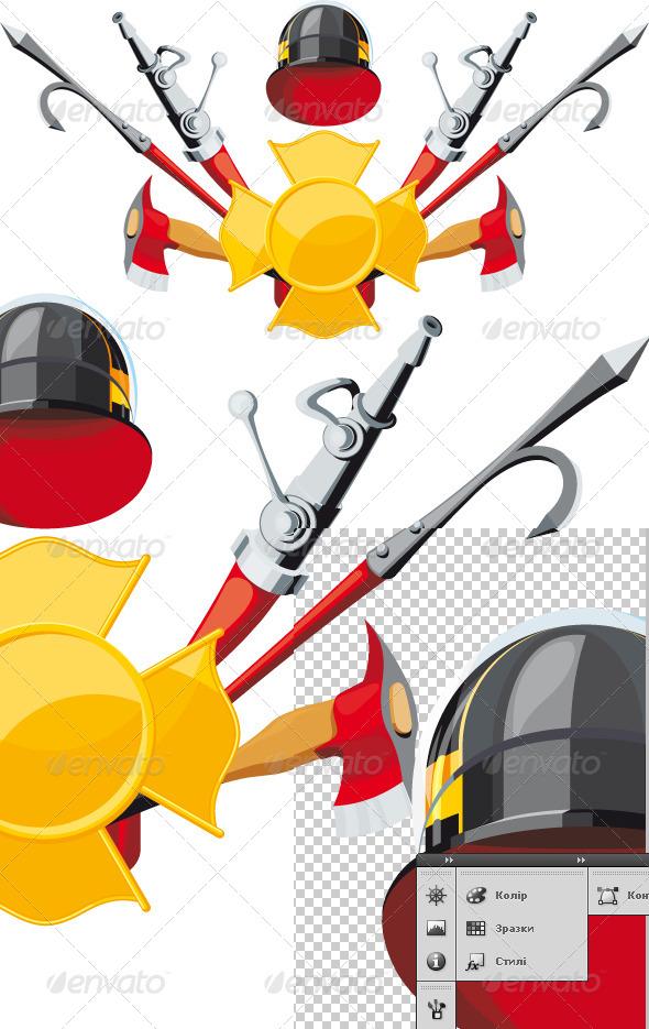 Fire Department Emblem - Conceptual Vectors