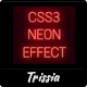 CSS3 Neon Effect - CodeCanyon Item for Sale