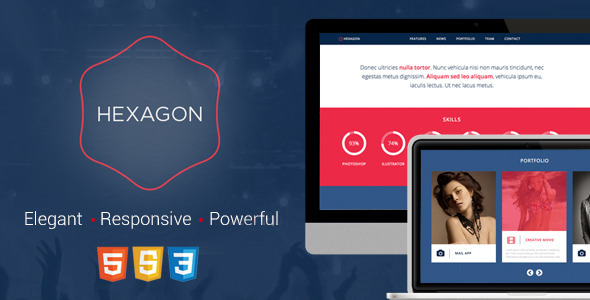 Hexagon – Responsive HTML5 Template