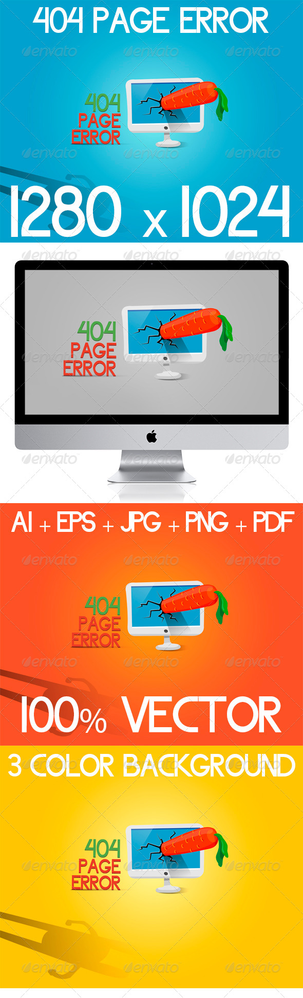 404 Page Error - 404 Pages Web Elements