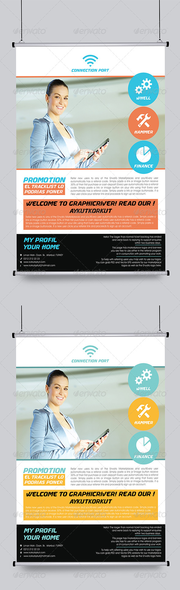 Connection Port Flyer Template - Corporate Flyers