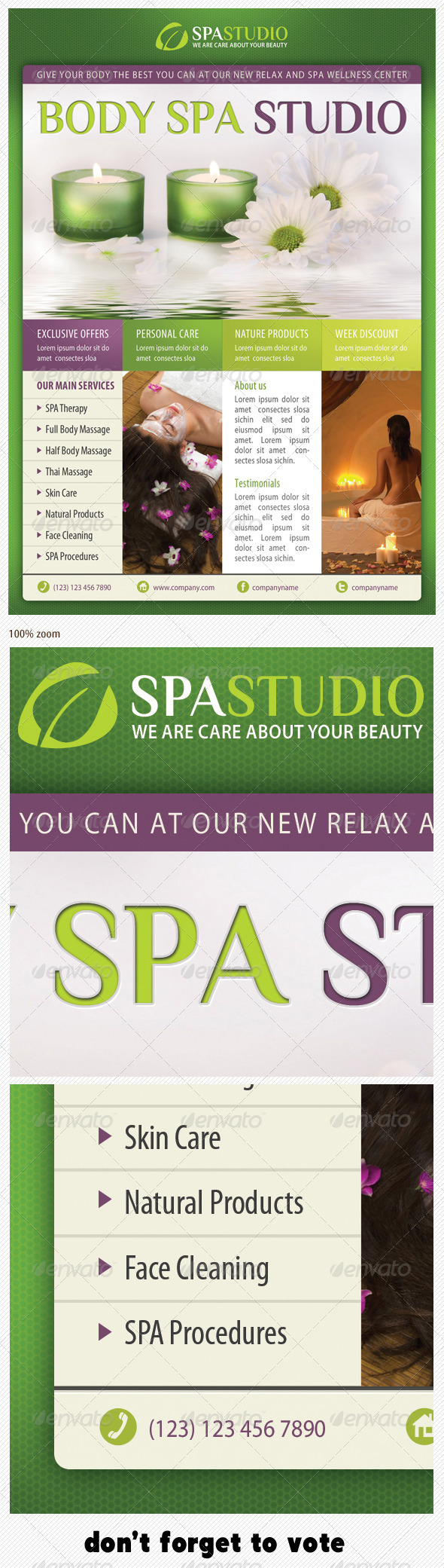 Spa Studio Flyer 13 - Commerce Flyers