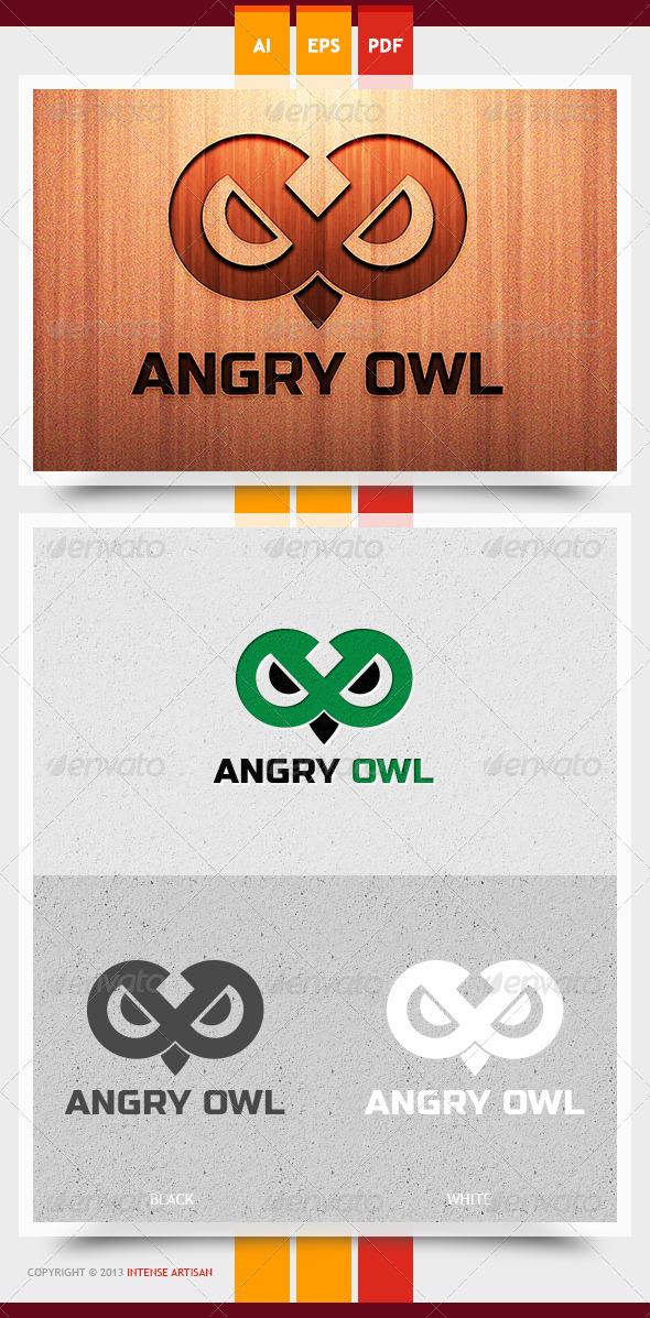 Angry Owl Logo Template - Animals Logo Templates