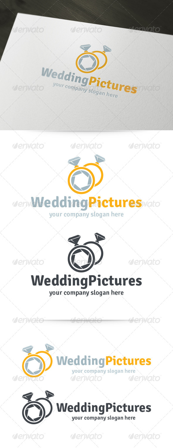 Wedding Pictures - Photography Logo - Objects Logo Templates