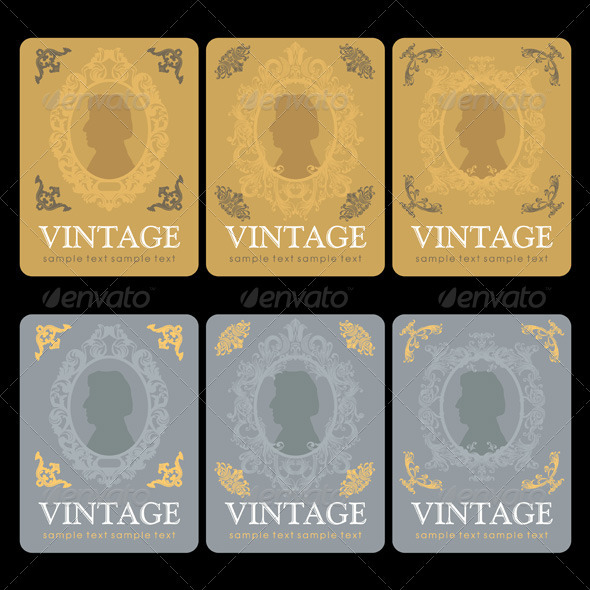 Vintage Wine Labels Set - Decorative Vectors