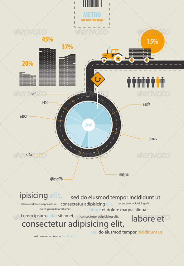 Infographics circuit supplies load on the tractor - Infographics