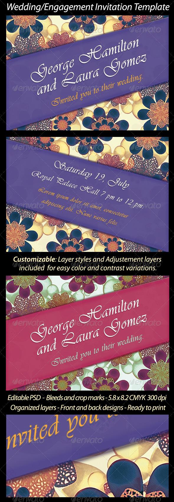 Wedding/Engagement Invitation Template - Weddings Cards & Invites