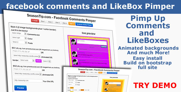 Facebook Comments and LikeBox Pimper - CodeCanyon Item for Sale