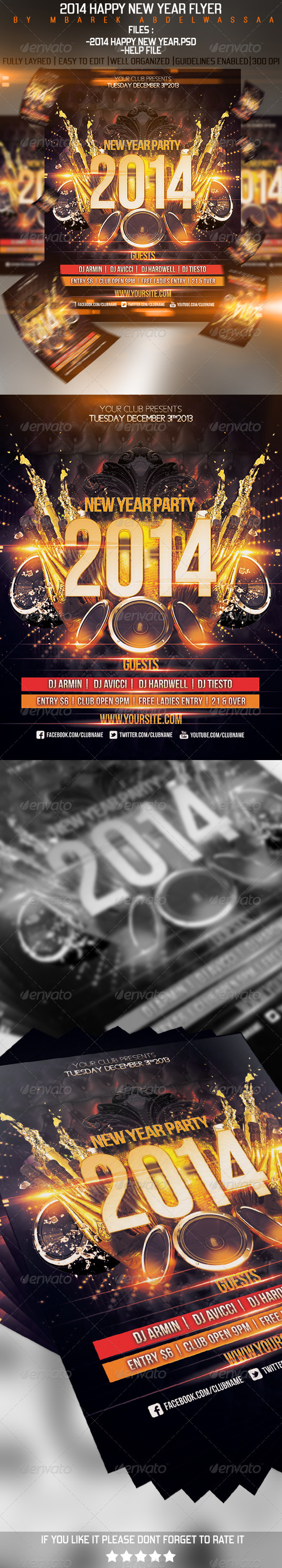 2014 Happy New Year Flyer - Events Flyers