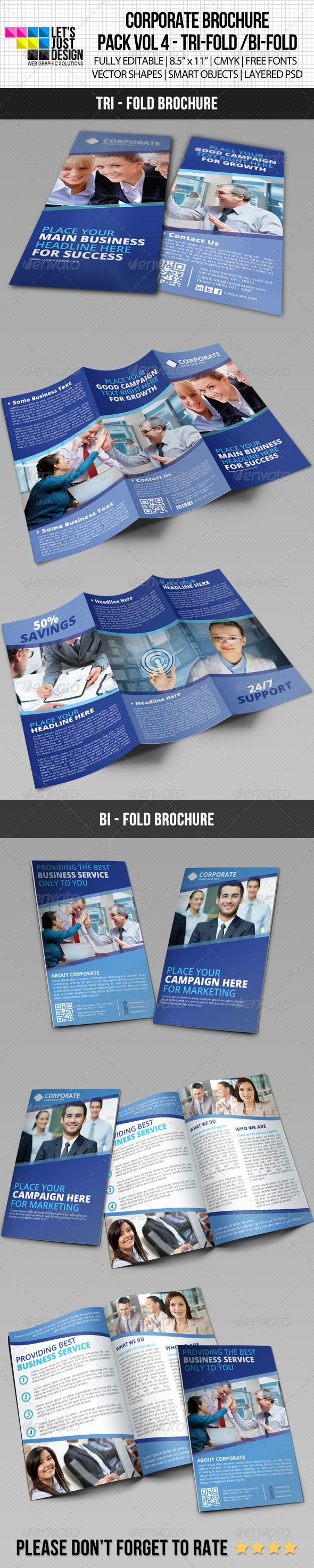 Creative Corporate Brochure Pack Vol 4 - Brochures Print Templates